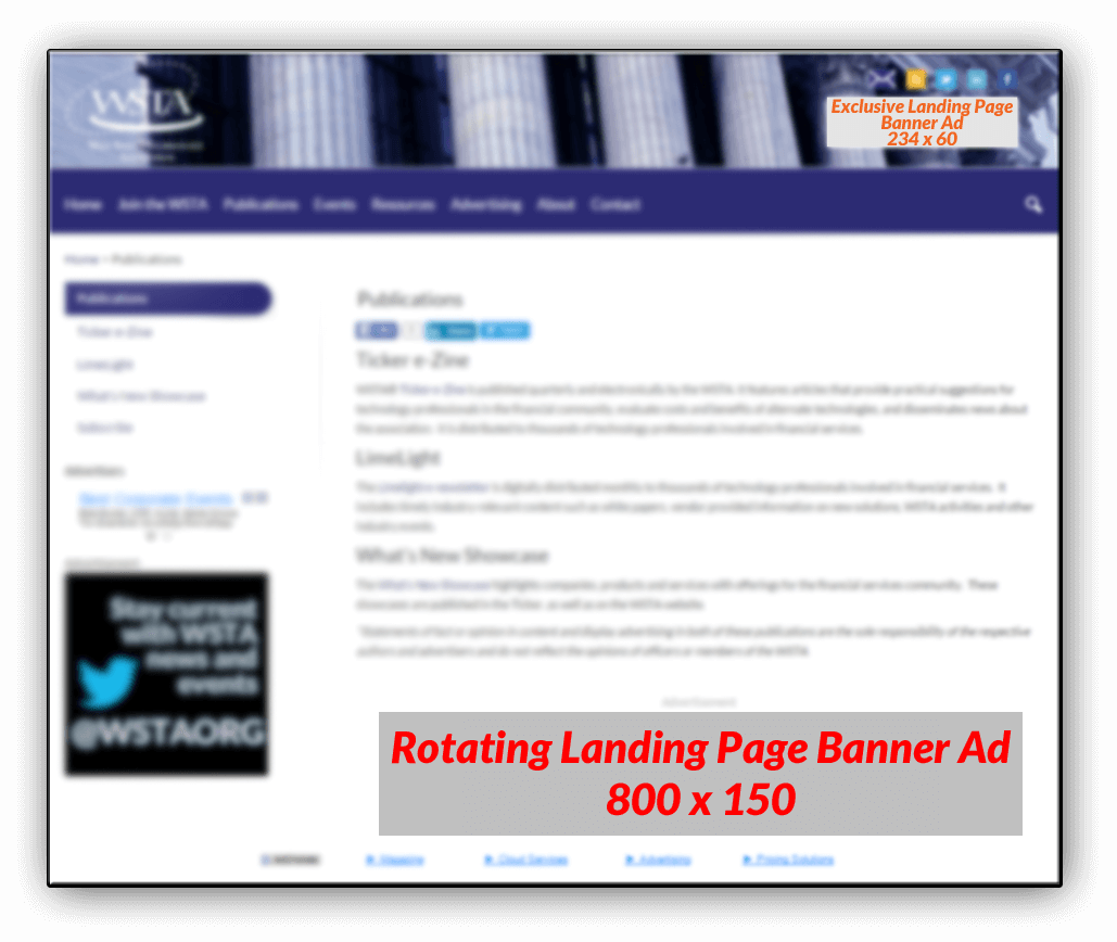 Landing Page Advertising Sizes