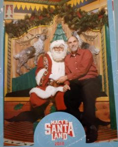 Posing with Santa at Holiday Gala